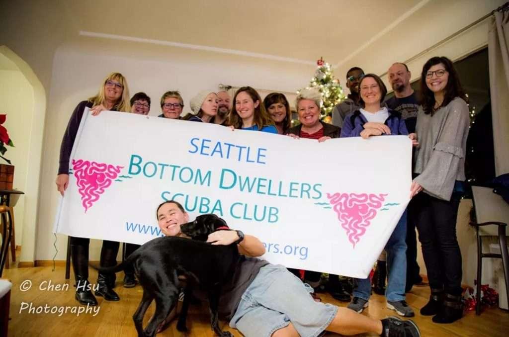Bottom Dwellers Membership at a holiday party